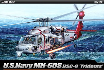 USN MH-60S HSC-9 Trouble Shooter · AY 12120 ·  Academy Plastic Model · 1:35
