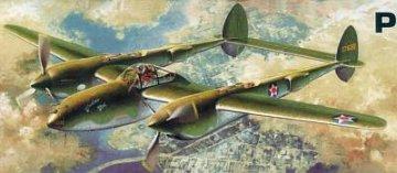 P-38F Lightning Glacier Girl · AY 12208 ·  Academy Plastic Model · 1:48