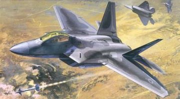 F-22A Air Dominance Fighter · AY 12212 ·  Academy Plastic Model · 1:48