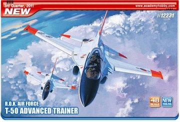 ROKAF T-50 ADVANCED TRAINER · AY 12231 ·  Academy Plastic Model · 1:48