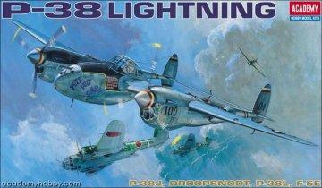 P-38 J-L-F5E-Droopsnoot · AY 12282 ·  Academy Plastic Model · 1:48