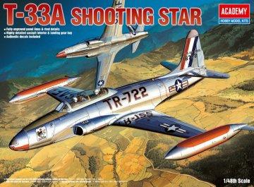 T-33A Shootingstar · AY 12284 ·  Academy Plastic Model · 1:48