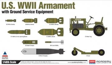 US WWII Armament Set · AY 12291 ·  Academy Plastic Model · 1:48