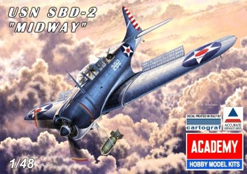 USN SBD-2 Midway · AY 12296 ·  Academy Plastic Model · 1:48