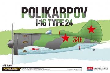POLIKARPOV I-16 TYPE 24  - Limted Edition · AY 12314 ·  Academy Plastic Model · 1:48