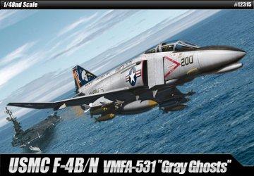 USN F-4N Phantom - VMFA-531 Gray Ghosts · AY 12315 ·  Academy Plastic Model · 1:48