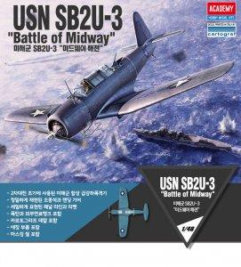 SB2U-3 VIindicator Battle of Midway · AY 12324 ·  Academy Plastic Model · 1:48