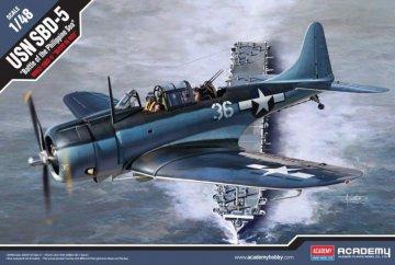 USN SBD-5 - Battle of the Philippine Sea · AY 12329 ·  Academy Plastic Model · 1:48