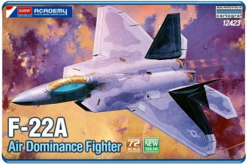 F-22A · AY 12423 ·  Academy Plastic Model · 1:72