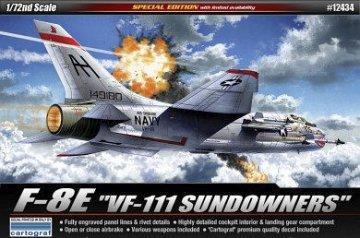 F-8E VF-111 SUNDOWNER · AY 12434 ·  Academy Plastic Model · 1:72