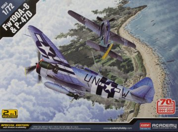 P-47D & FW 190A-8 ´Annv.70 Normandy Invasion 1944´ · AY 12513 ·  Academy Plastic Model · 1:72