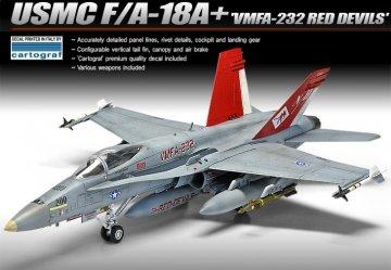 USMC F/A 18A+ VMFA-232 RED DEVILS · AY 12520 ·  Academy Plastic Model · 1:72