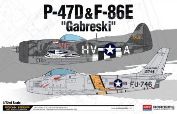 P-47D & F-86E ´GABRESKI´ Limited Edition · AY 12530 ·  Academy Plastic Model · 1:72