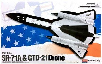 SR-71 & DRONE · AY 12540 ·  Academy Plastic Model · 1:72