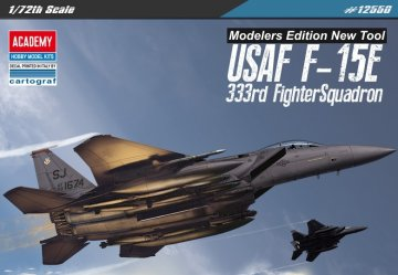 USAF F-15E - 333th Fighters Squadron - Modellers Edition · AY 12550 ·  Academy Plastic Model · 1:72