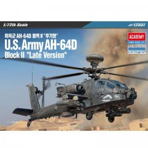 US Army AH-64D Block II - Late Version · AY 12551 ·  Academy Plastic Model · 1:72