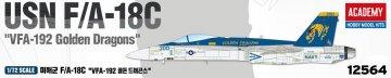 USN F/A-18C VFA-192 Golden Dragons · AY 12564 ·  Academy Plastic Model · 1:72