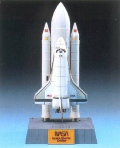 Space Shuttle + Booster · AY 12707 ·  Academy Plastic Model · 1:288