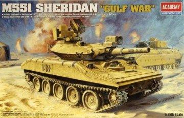M551 Sheridan Gulf War · AY 13208 ·  Academy Plastic Model · 1:35