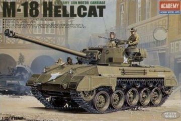 M-18 Hellcat · AY 13255 ·  Academy Plastic Model · 1:35