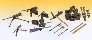 Machine Gun Set · AY 13262 ·  Academy Plastic Model · 1:35