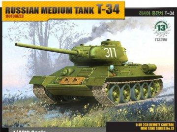 T-34 · AY 13306 ·  Academy Plastic Model · 1:48