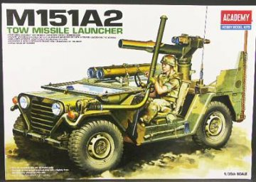 M151A2 Tow Missile Launcher · AY 13406 ·  Academy Plastic Model · 1:35