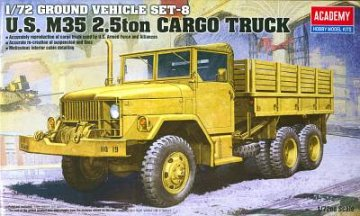 U.S. M35 2,5ton Cargo Truck Ground Vehicle Set-8 · AY 13410 ·  Academy Plastic Model · 1:72