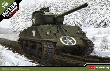 M4A3 76mm US Army - Battle of Bulge · AY 13500 ·  Academy Plastic Model · 1:35