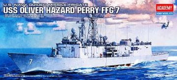 U.S. Navy Guided Missile Frigate USS Oliver Hazard Perry FFG-7 · AY 14102 ·  Academy Plastic Model · 1:350