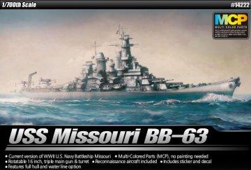 USS Missouri BB-63 [MCP] · AY 14222 ·  Academy Plastic Model · 1:700