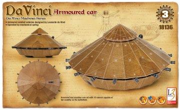 Da VINCI ARMOURED CAR · AY 18136 ·  Academy Plastic Model