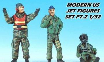 Figuren Set II Modern U.S. Aircraft (2 Pilots & 1 Crew) · AY 32002 ·  Academy Plastic Model · 1:32