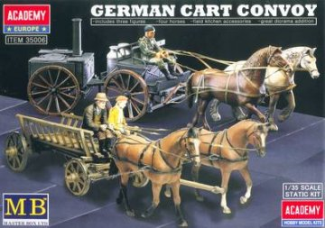 German Cart Convoy · AY 35006 ·  Academy Plastic Model · 1:35