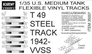 T49 STEEL TRACK 1942-VVSS (3 Sets) · AY 35007 ·  Academy Plastic Model · 1:35