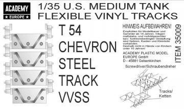 T54 CHEVRON STEEL TRACK VVSS (3 Sets) · AY 35009 ·  Academy Plastic Model · 1:35
