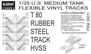 T80 COMPOSITE TRACK HVSS (3 Sets) · AY 35011 ·  Academy Plastic Model · 1:35
