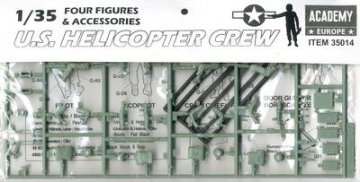 U.S. HELICOPTER CREW (4 Fig.) · AY 35014 ·  Academy Plastic Model · 1:35