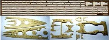 Holzdeck/Ätzteile Bismarck/Tirpitz(Academy/Tamiya) · AY 45002 ·  Academy Plastic Model · 1:350