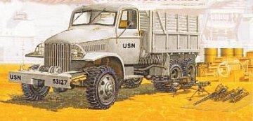U.S. Navy Cargo Turck 2,5 ton 6x6 Cargo Truck & Accessories · AY 72002 ·  Academy Plastic Model · 1:72