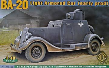 BA-20 light armored car, early prod. · ACE 48108 ·  ACE · 1:48