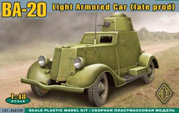 BA-20 light armored car,late prod. · ACE 48109 ·  ACE · 1:48