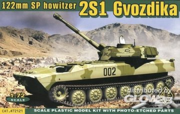 2S1 Gvozdika 122 mm SP Howitzer · ACE 72121 ·  ACE · 1:72