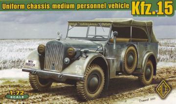 Kfz.15 uniform chassis medium vehicle · ACE 72258 ·  ACE · 1:72