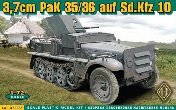 37 mm PaK 35/36 auf Sd.Kfz 10 · ACE 72281 ·  ACE · 1:72