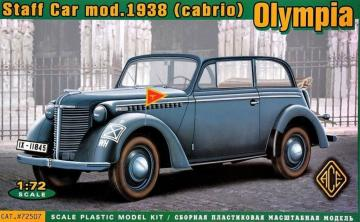 Olympia (cabrio) staff car,model 1938 · ACE 72507 ·  ACE · 1:72