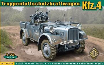 Kfz.4 WWII German AA motor vehicle · ACE 72512 ·  ACE · 1:72