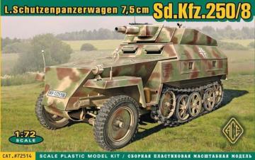 Sd.Kfz.250/8 Leichter Schutzenpanzerwage (7,5cm) · ACE 72514 ·  ACE · 1:72