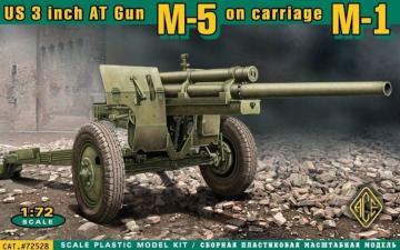 U.S. 3inch anti-tank gun M-5 on carriage · ACE 72528 ·  ACE · 1:72