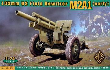 US 105mm howitzer M2A1 w/M2 gun carriage · ACE 72530 ·  ACE · 1:72